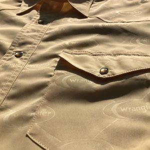 Wrangler Western Pattern Imprint Snap Button Shirt
